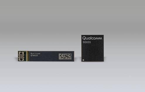 Qualcomm骁龙X55 5G调制解调器及Qualcomm QTM525毫米波天线模组.jpg
