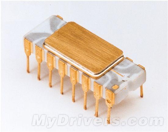 4004处理器:740KHz(0.74MHz),10微米