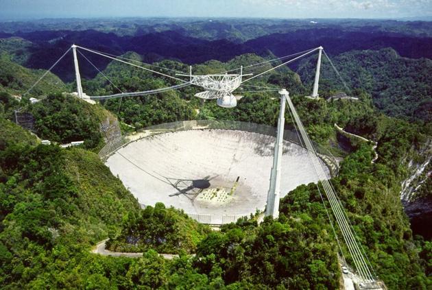 位于美属波多黎各岛上的阿雷西博射电望远镜
